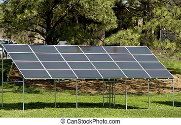 Solar Panels - A series of solar panels used to covert...