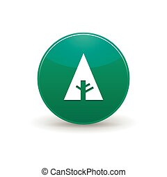 Forrst icon, simple style - Forrst icon in simple style on a...