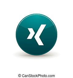 Xing icon, simple style - Xing icon in simple style on a...