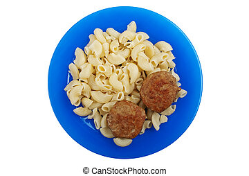 Cutlet macaroni food - Meat food - fried cutlet macaroni for...