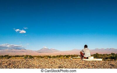 San Pedro de Atacama - san pedro de atacama with the volcano...
