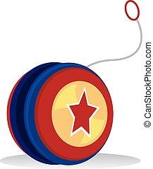 Yo yo - Vector Illustration of Colorful Yo yo