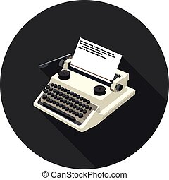flat icon typewriter in vector format eps10