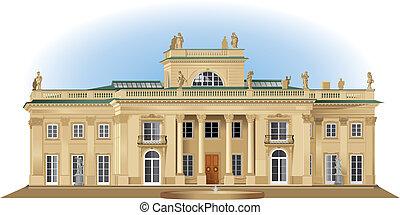 Lazienki palace - Lazienki royal summer palace detailed...
