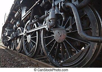 vapor, locomotora,