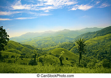 Mountain meadows - Hills and mountains in Costa Rica