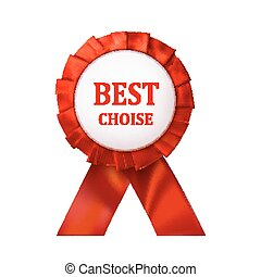 Vector best choice red label.