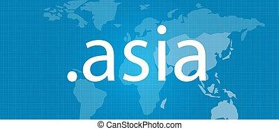 dot .asia map blue vector domain concept