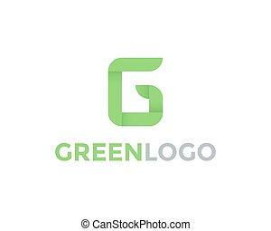 Greeen Letter G Logo - Green letter G logo design template....
