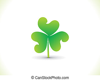 abstract st patrick clover - abstract artistic st patrick...