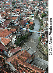 slum area - portrait of slum area that commonly found in...
