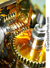 tooth gear wheel machining - metalworking industry. tooth...