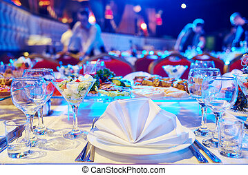 Catering service. set table - Catering service. Restaurant...