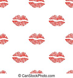 Seamless pattern with ink lips.