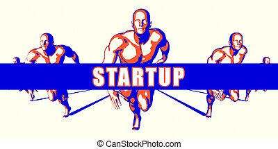 Startup as a Competition Concept Illustration Art