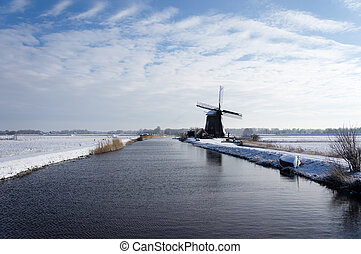 Pays-Bas, hiver, paysage