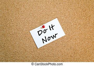 Sticky Note text concept - Sticky Note On Cork Board...
