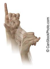 Letter J in ASL - Finger Spelling the Alphabet in American...