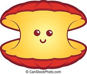 Animal cartoon clam happy illustration seashell shell ...
