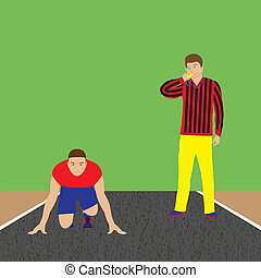 Athlete and coach Sportsman Track-and-field athletics Sport...