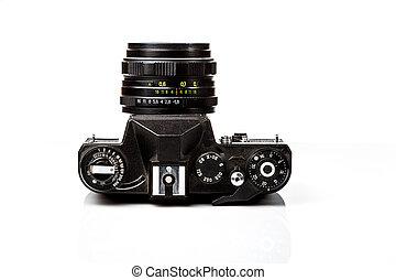 disparar, antigas,  câmera,  retro, película