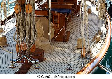 Sail boat interior