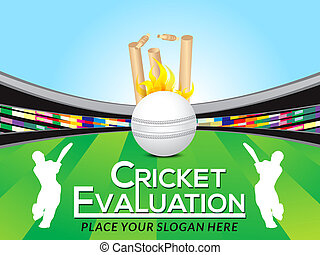 Cricket Tournament Banner template vector illustration