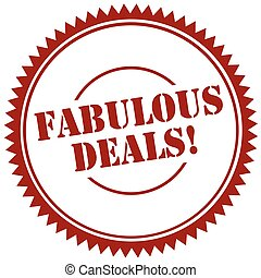 Fabulous Deals-stamp - Red stamp with text Fabulous...