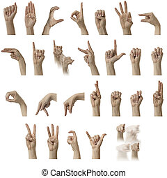 ASL Alphabet - Finger Spelling the Alphabet in American Sign...