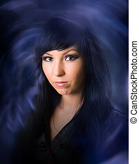 l black-haired witch  - Beautiful black-haired witch