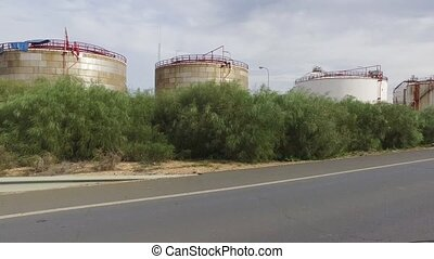 Driving Near to a Oil Refinery, Huelva Spain