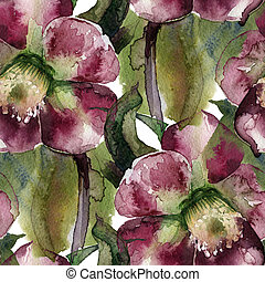 flowers watercolor pattern - flowers watercolor of floral...