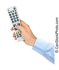 Hand with remote control