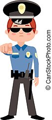 flat police officer