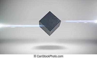 Abstract cube rotate animation