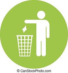 No littering vector icon