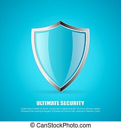 Secure shield poster