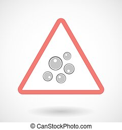 Warning signal icon with oocytes - Illustration of a warning...