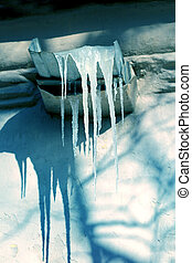 Photo Icicle on roof - Beautiful picture transparent icicle...