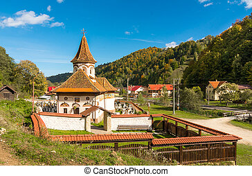 Old church in Simon vilage,Ban-Moeciu, Romania - Old church...