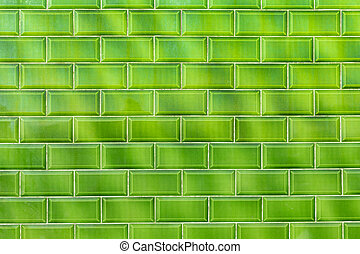 Green shiny flashy green modern retro wall with shaped...