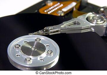 Harddisk - Closeup of an open harddisk