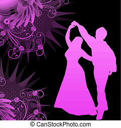 dancer and grunge vector