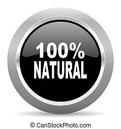 natural black metallic chrome web circle glossy icon