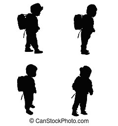 child set black illustration silhouette