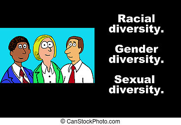 Equality - Business illustration about diversity in the...