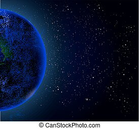 Planet in space, vector illustration artistic universe