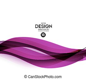 Abstract smooth wave motion illustration