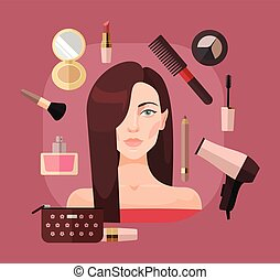 Woman in beauty salon