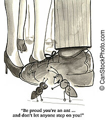 Be Proud - Cartoon about the importance of standing tall and...